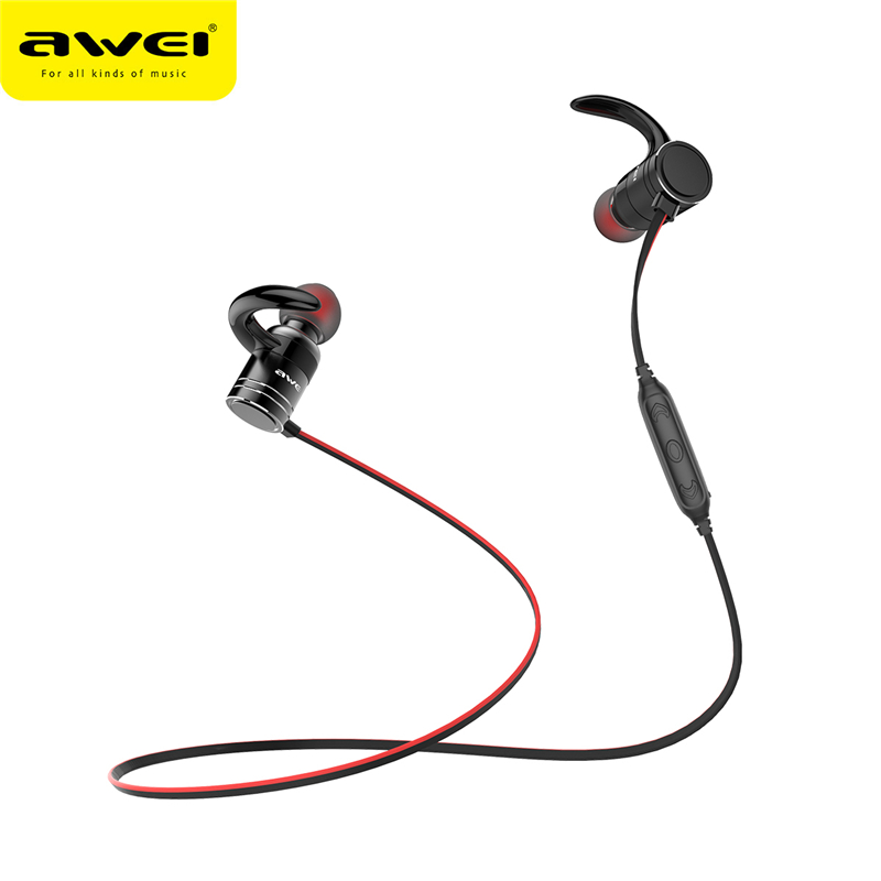 AWEI AK7 Wireless Bluetooth Earphone Sports Stereo In-ear Earphones with Microphone Waterproof fone de ouvido Headset new arrival sports fone de ouvido earphone awei a890bl wireless bluetooth earphones audifonos with microphone for xiaomi iphone