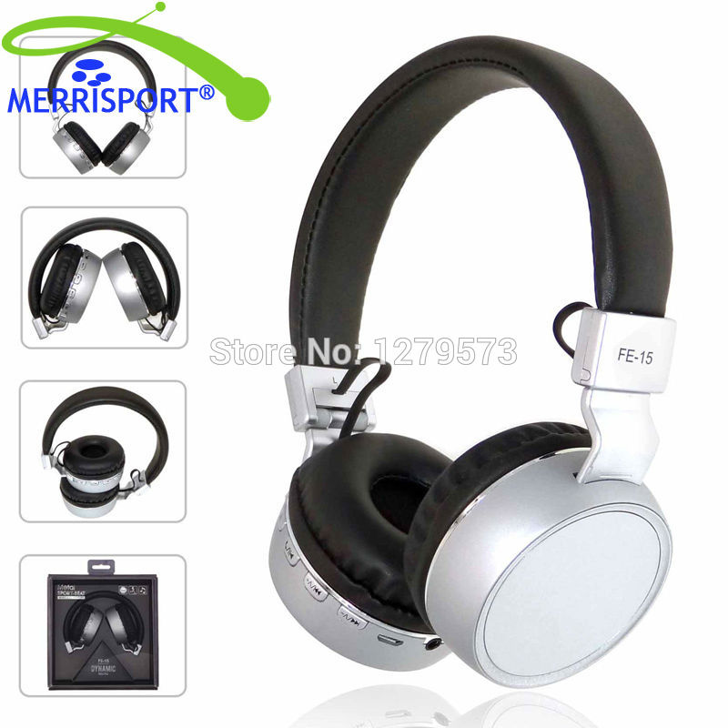 MERRISPORT Bluetooth Headphones,Wireless Foldable Over-ear Headsets with Mic for iPhone, Samsung Galaxy PC Smartphone TV Silver lobkin active anc headphones bluetooth over ear headphone build in mic for iphone silver