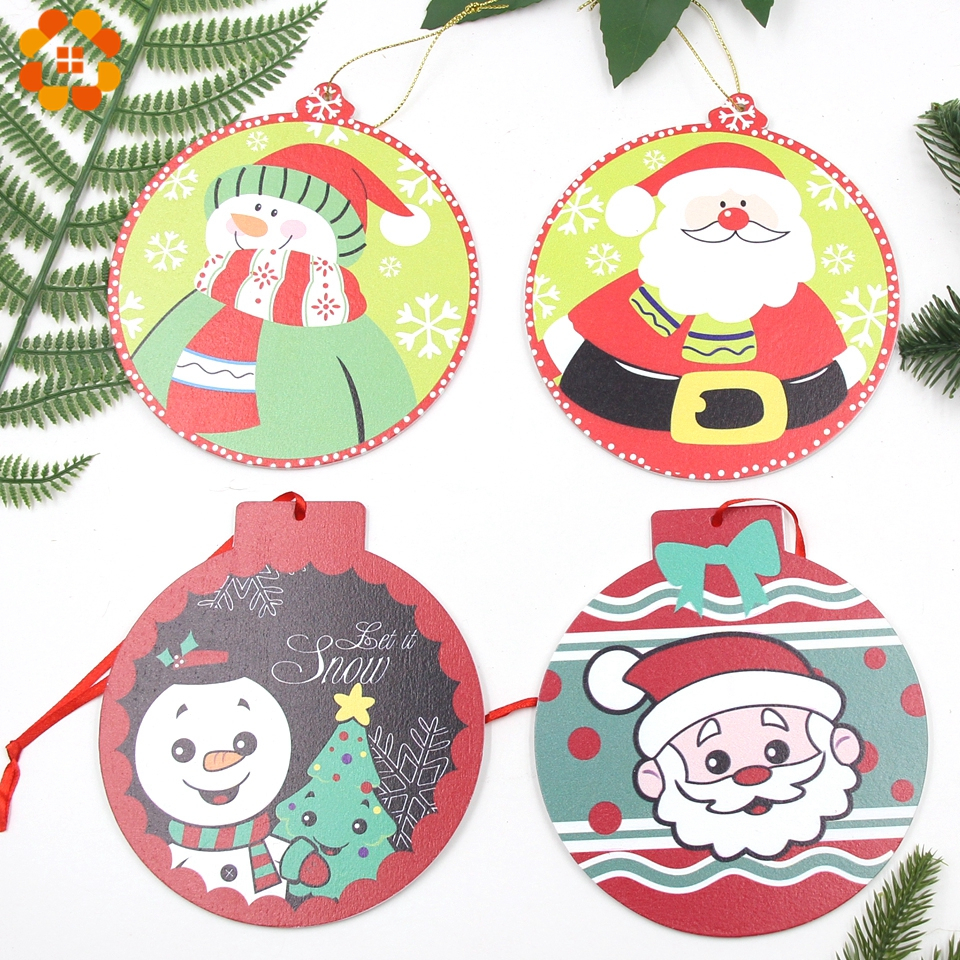 1PC Big Size Creative Printed Christmas Ball Pendant Ornaments Home Party Xmas Tree Kids Gifts Decorations