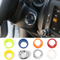 ABS Colorful Car Ignition Key Ring Switch Cover for Jeep Renegade Car Engine Start Stop Ignition key Ring Sticker