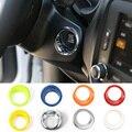 ABS Colorido Anel Chave Tampa do Interruptor De Ignição Do Carro para Jeep Renegado Parada Partida Do Motor Do Carro do Anel chave de Ignição Adesivo