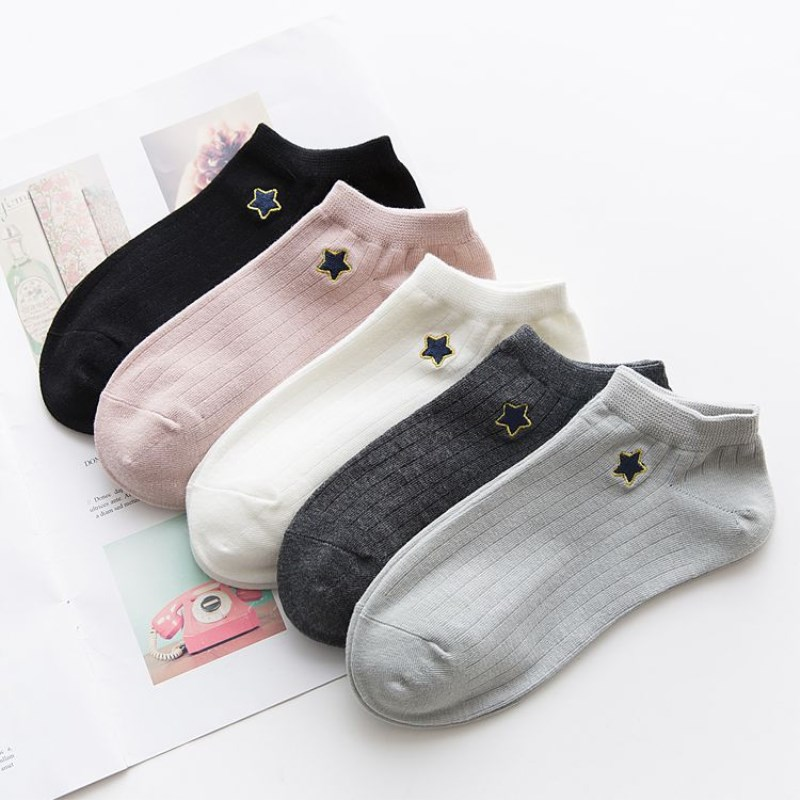 Fashion wild spring and summer new embroidery lady socks 40 pairs wholesale