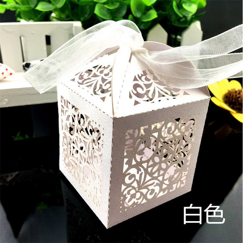 50pcs laser cut gift box wedding favor box flower wedding decoration wedding candy favors christmas wedding gifts for guest box