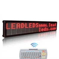 30 x 6.3 inches Big keyboard remote control led advertising display programmable and scrolling message