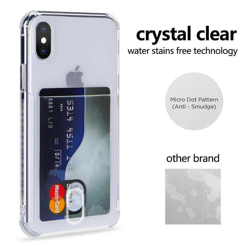 Heavy Protection Case For iPhone 11 Pro X XR XS Max 6 6S 7 8 Plus Clear Card Slot Soft Cover For Huawei Mate 20 Pro P20 P30 Lite