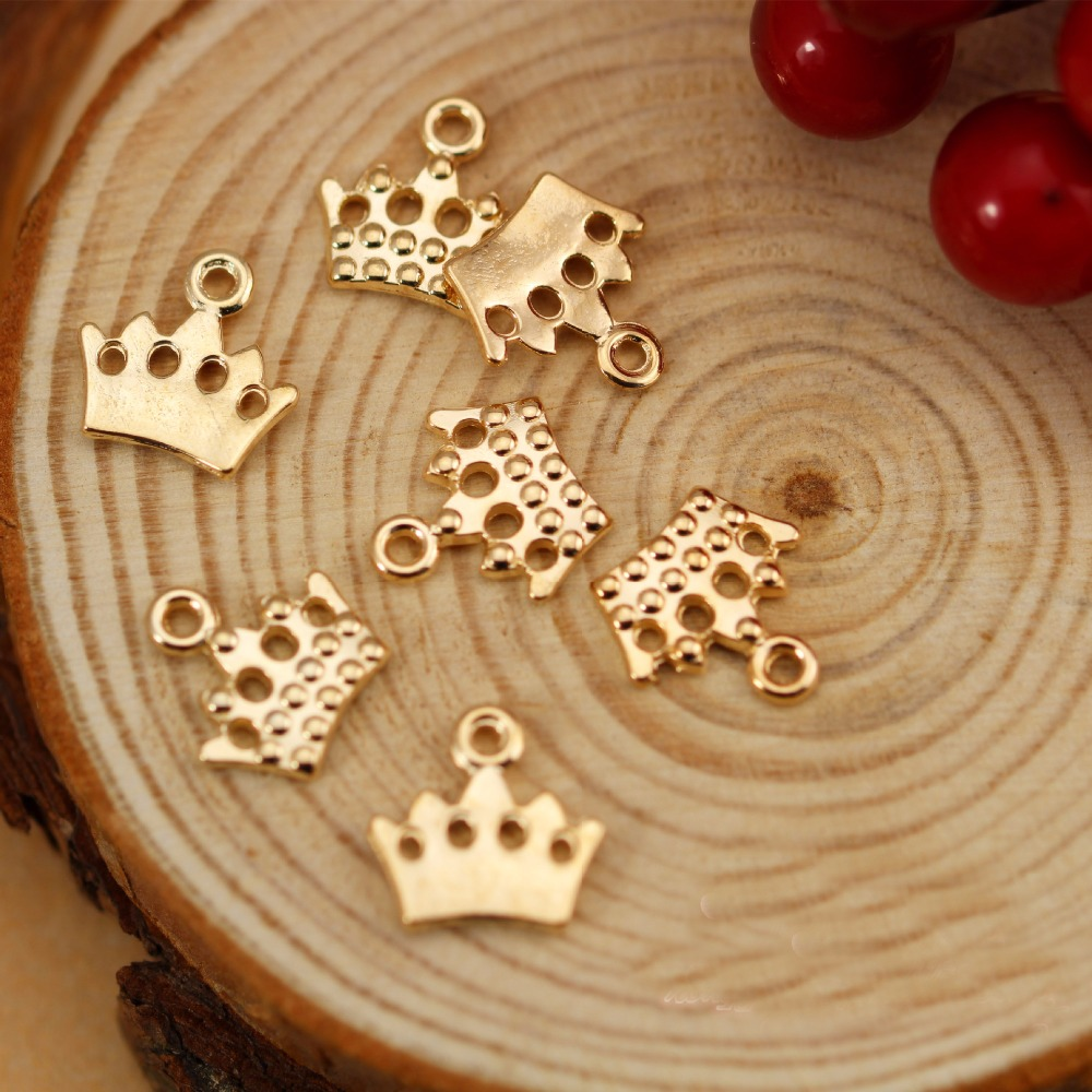 DIY European Fashion Charm Gifts Little Crown Metal Charms For Jewelry Making Pendant Floating Charm Key Chains As Accessories