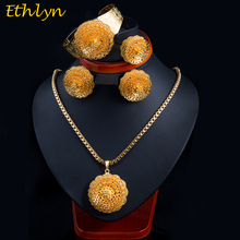 Ethlyn 2017 New Gold Color Ethiopian Women  Jewelry Sets  African Bridal Wedding Jewelry Sets S072