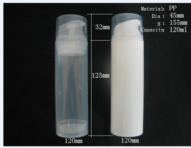 100pcs Lot Pp 120ml Airless Bottle White Clear Color
