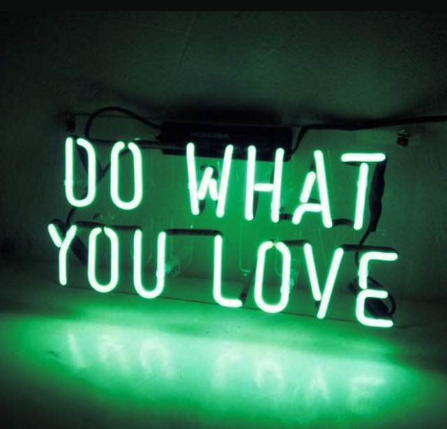 Custom DO WHAT YOU LOVE Blue White Red Pink Deep blue Purple Turquoise Green Yellow Glass Neon Light Beer Bar 3