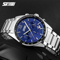 Top Luxury Brand SKMEI Chronograph 6 Function Hand Military Men Watch Full Steel Quartz Watches Brand Reloj Deportivo Hombre