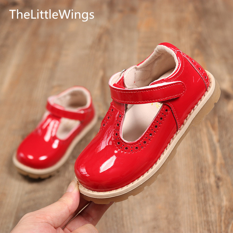 Kids Shoes British-Style Girls Princess Cute Thelittlewings Autumn Flat Casual Fashion