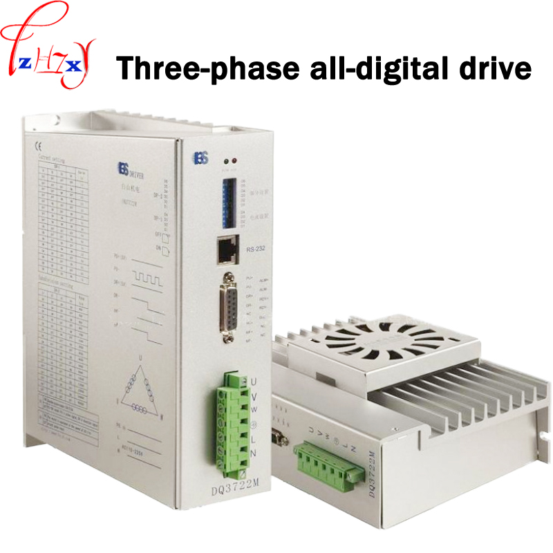 Three-phase stepping motor drive  DQ3722M used in engraving machine and other numerical control equipment 110/220V 1PCThree-phase stepping motor drive  DQ3722M used in engraving machine and other numerical control equipment 110/220V 1PC