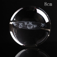 Buy Deli 1PCS 8CM Laser Engraved Solar System Ball 3D Miniature Planets Model Sphere Glass Globe Ornament Home Decor Gift directly from merchant!