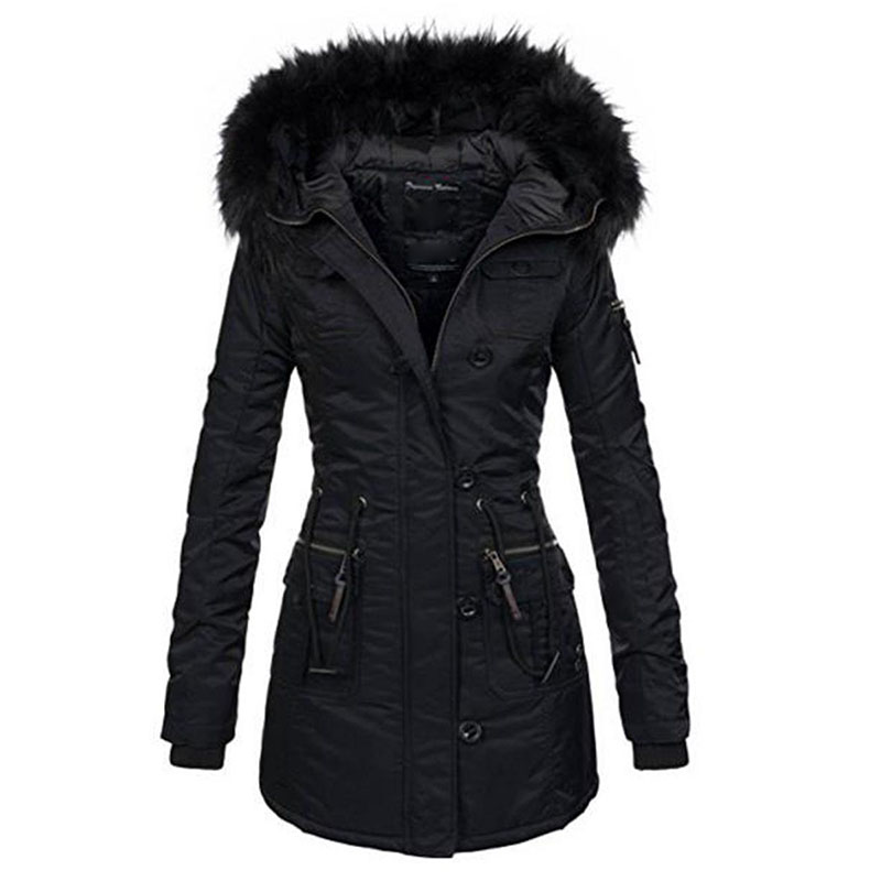 Rosetic Harajuku Goth Women Outerwear Coat Faux Fur Plus Size Autumn Windproof Slim Hooded V Neck