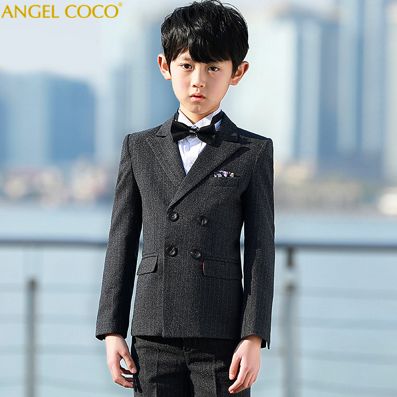 Boutique 5pcs/set(Blazer+Pants+Vest+Shirts+Bowtie) Handsome Toddler Flower Boys Wedding Show/Performance Formal Suit Sets 2018Boutique 5pcs/set(Blazer+Pants+Vest+Shirts+Bowtie) Handsome Toddler Flower Boys Wedding Show/Performance Formal Suit Sets 2018