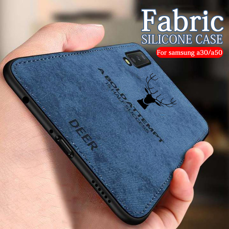 Case For Samsung Galaxy <font><b>A50</b></font> Cover Fabric Silicone Phone cases For Samsung a30 case sumsung a 30 50 30a 50a a505 a305 Cloth Coque image