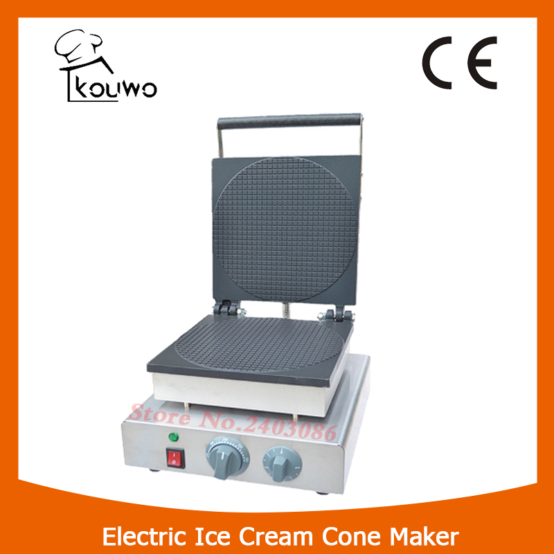 KOUWO CE Certificiate Smokeless Electric Ice Cream Cone Maker Crispy Machine/Commercial ice cream cone making Machine KW-2209A square pan rolled fried ice cream making machine snack machinery