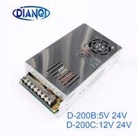 DIANQI Dual Output Switching Power Supply 200w 5V 12v 24V Power Suply D 200C Ac Dc