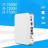 Mini PC I7 7500U I5 7200U I3 7100U Windows 10 8 1 HD Graphics 620 4K