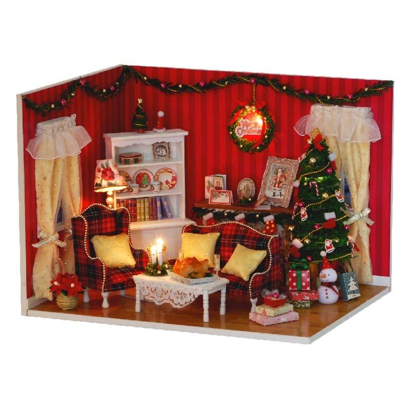 Handmade Wooden Miniatura Room Box Assemble Miniature