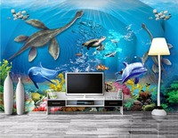 Custom Mural 3d Wallpaper Picture Dinosaur Sea Turtle Living Room Home Decor Painting 3d Wall Murals