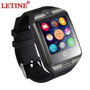 LETINE Q18 Sport Smart-Watch Phone Women Men Touch Screen Clock Wrist Cell Phone Watch with Camera SIM for iOS Android PK DZ09