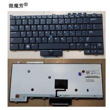 Новая клавиатура США для Dell E4300, черная клавиатура для ноутбука с подсветкой