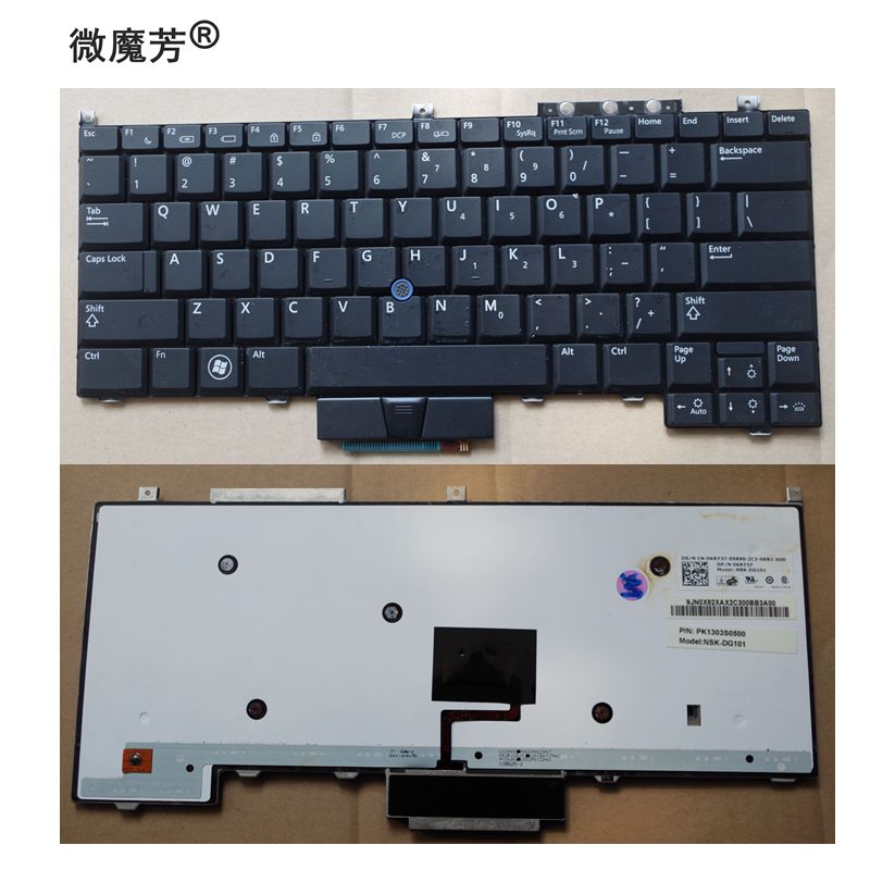 New US Keyboard For Dell E4300 BLACK Laptop Keyboard With Backlight