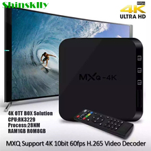 Shinsklly MXQ 4k Android TV Box Rockchip RK3229 Quad-core RAM 1GB 8GB Android 6.0 Smart tv box HD 4K*2K 2.4G Wifi Media Player