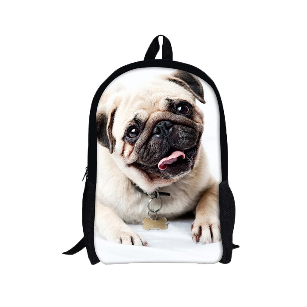 Xiniu Anime Backpack 3D Animal Print Shar Pei Dog Backpack Rucksack School College Shoulder Bags Backpack