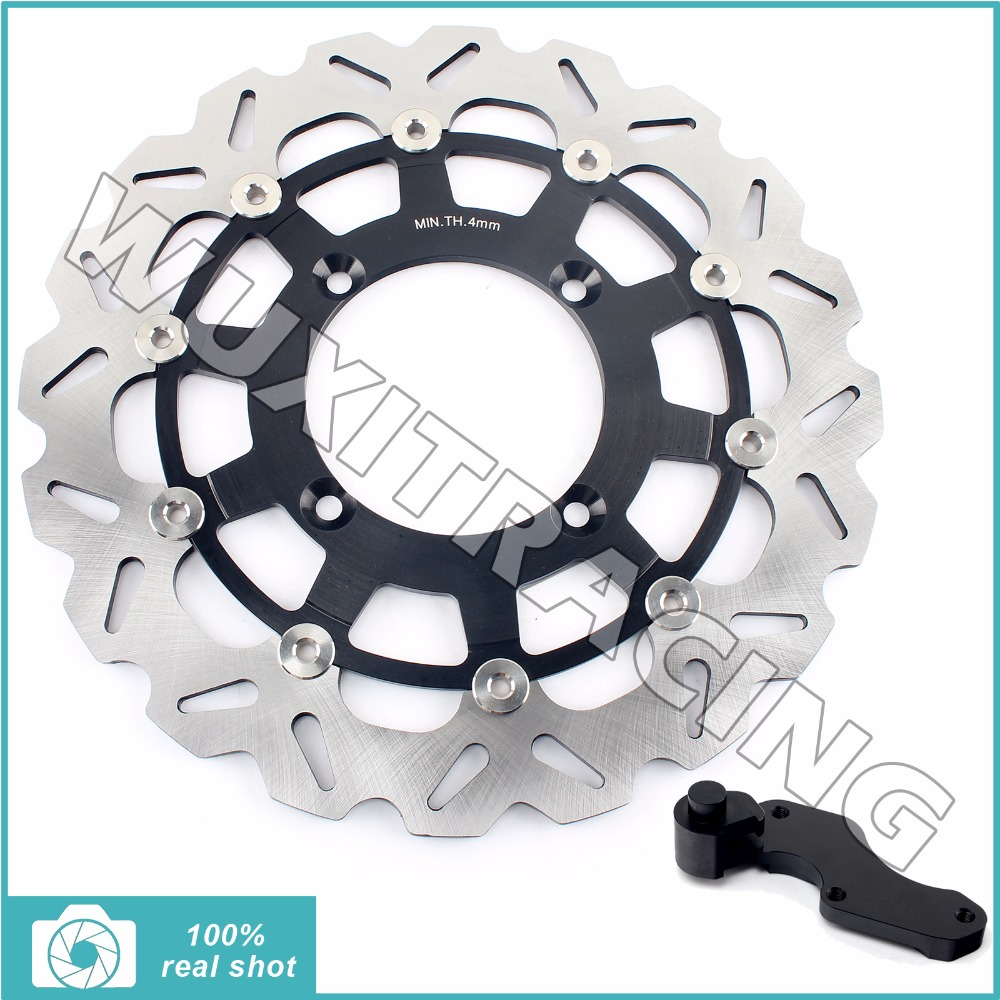 Oversize 320MM Front Brake Disc Rotor Bracket Adaptor for KAWASAKI KX 125/250 06-08 KX 250 450 F 06-17 KLX 450 R 07-12 08 09 10