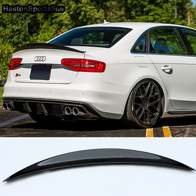 S4 HK Style Carbon Fiber Rear Spoiler Wing for Audi A4 B8.5 S4 4Door 2013~2016-in Spoilers & Wings from Automobiles & Motorcycles    2