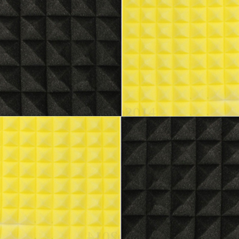 Us 4889 40 Off12 Sztuk Czarny żółty 50x50x5 Cm Panele Akustyczne Izolacja Akustyczna Studio Pianka Leczenie Izolacji Dźwiękowej Dźwięku Izolacja