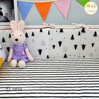 INS hot 4 Pcs/sets black white clouds crib liner cotton crib bumper baby cot sets baby bed protector baby bedding bumper