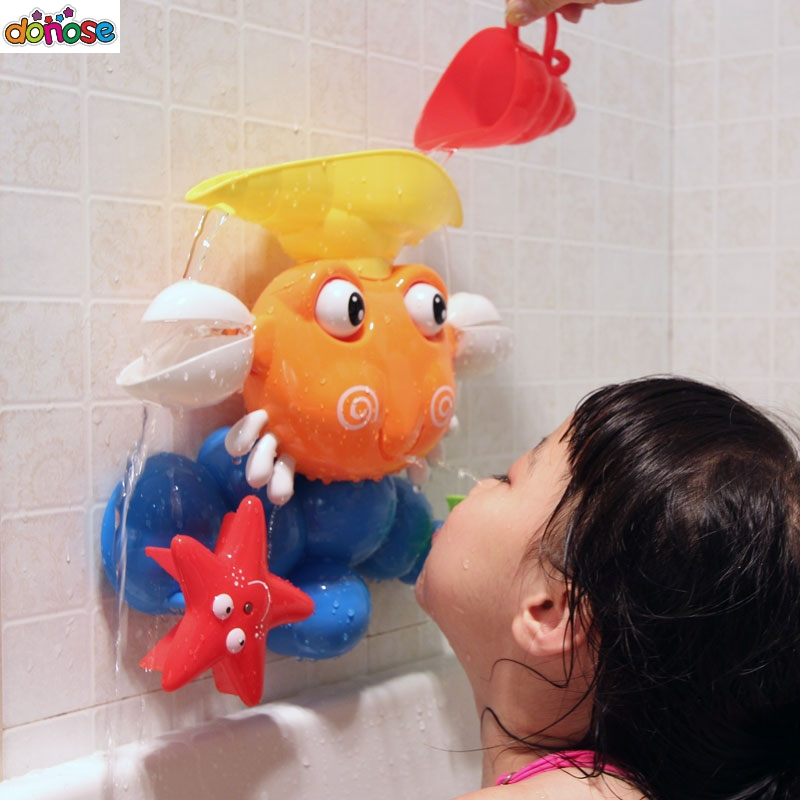 Trend Mark New Cute Cartoon Water Baby Boys Girls Bath Toys Rubber Duck Bathroom Toys Floating Fish For Kids Shower Mesh Classic Toys Classic Toys