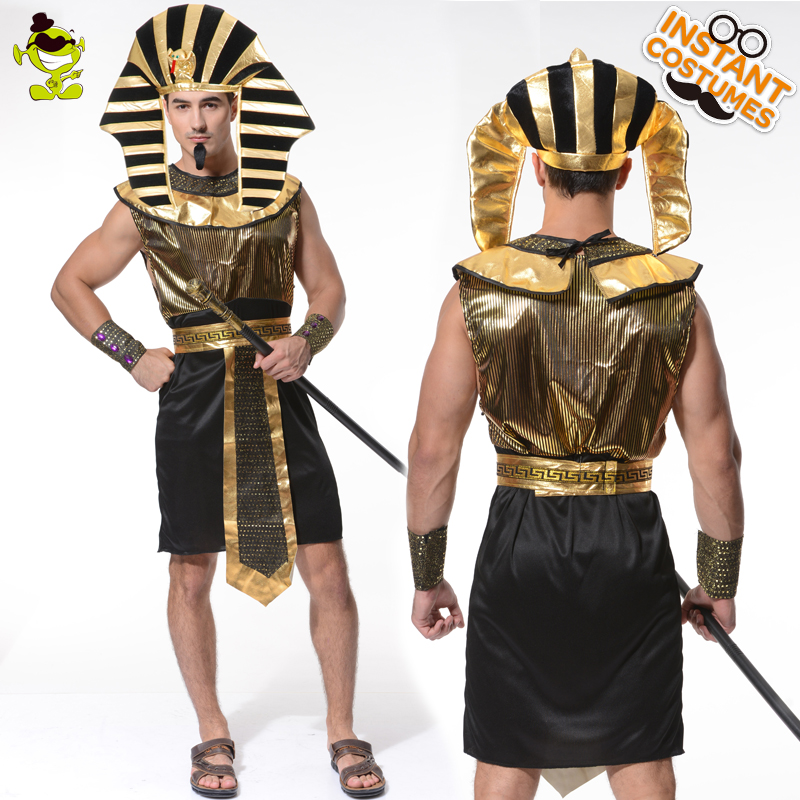 Hot Sale Egypt Pharaoh Costume Cosplay In Halloween Party Masquerade Egyptian Pharaoh Costume Fancy Dress Egypt Pharaoh Clothes