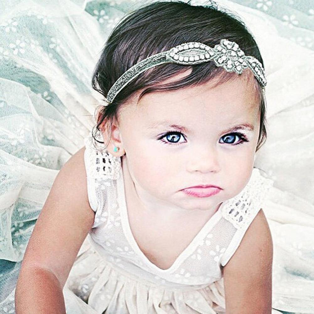 Baby Infant Kids Hair Accessories Glittery Crystal Rhinestone Headband Baby Girl Hairband Head Wrap все цены