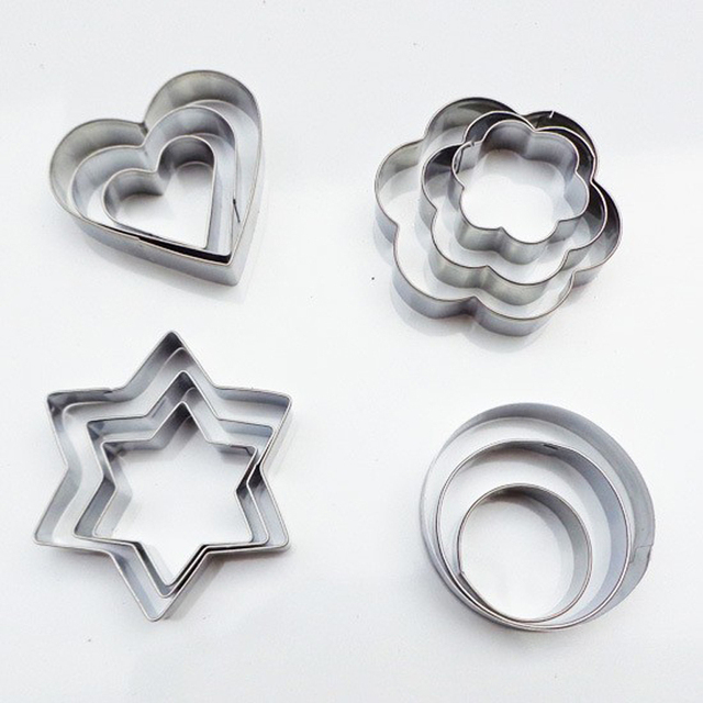 Baking Moulds Stainless Steel Cookie Cutters Plunger