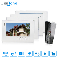 JeaTone 7 1200TVL High Resolution Color Video Doorphone Door Entry Intercom Systems Outdoor Doorbell Camera With