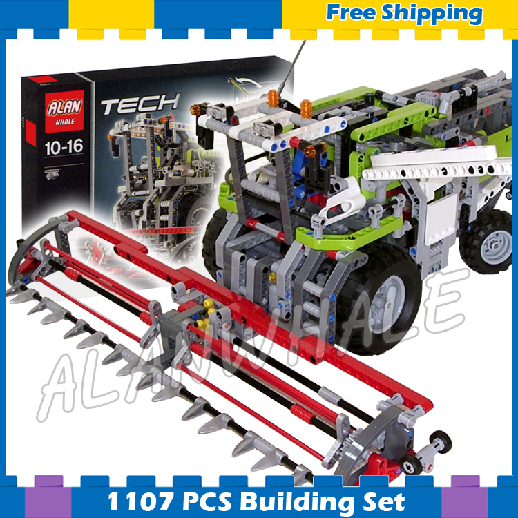 1107pcs 2in1 Techinic Combine Harvester High-speed Dragster 20041 DIY Arm Model Building Blocks Gifts Sets Compatible With lego 1060pcs 2in1 techinic motorized heavy