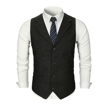 MarKyi good quality cotton men vest single breast 2019 new brand slim fit dress