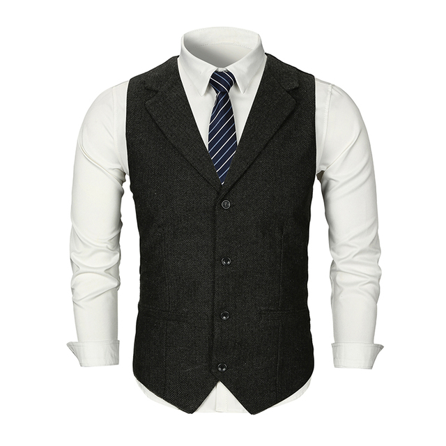 MarKyi good quality cotton men vest single breast 2019 new brand vest men slim fit dress