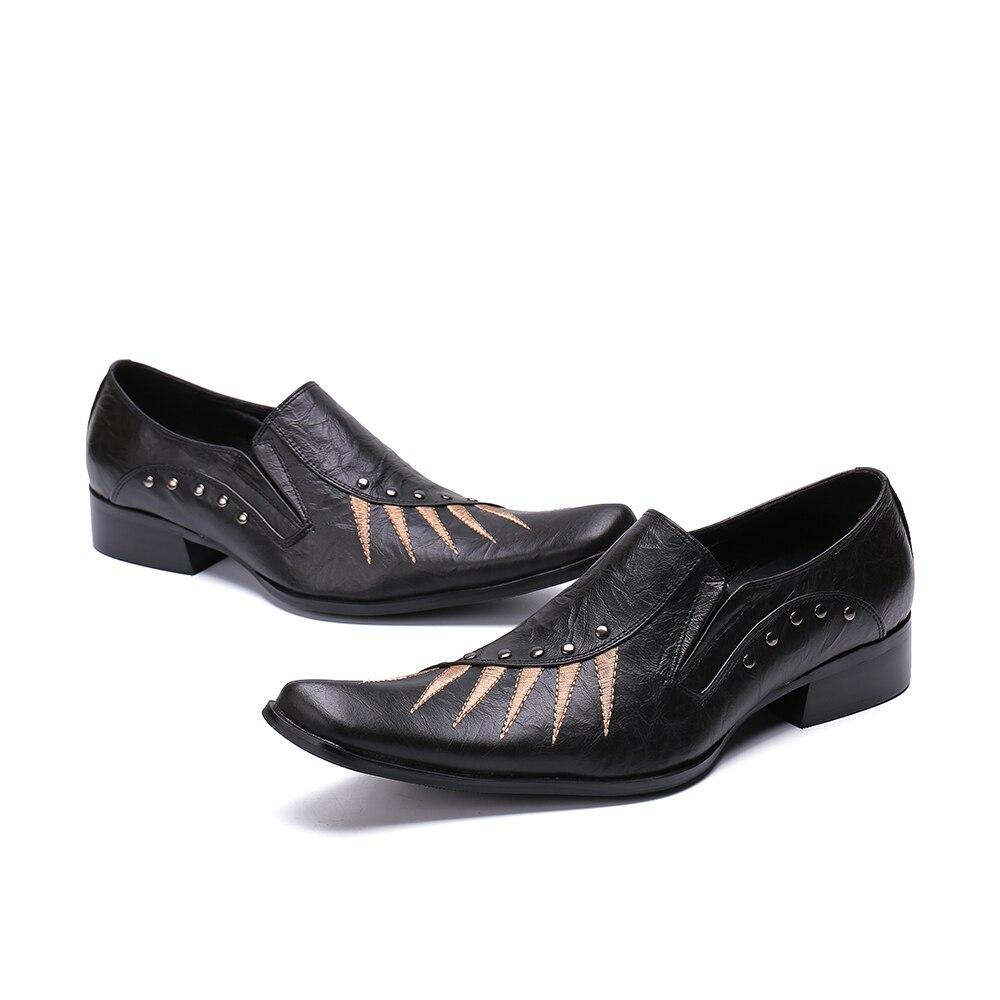 Bisel Mezclado Real Caballero Bordado As Show Cuero Diseñadores Nuevos Cuadrado En Deslizamiento Cinco Hombres Palpus Color Casual Zapatos xH4nv4Iqg
