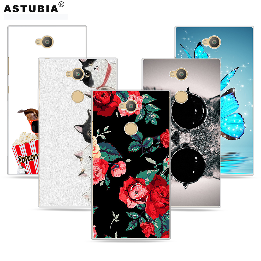 Galleria fotografica ASTUBIA Case For Sony Xperia L2 Case Silison Soft TPU Cute Cat Phone Case For Sony Xperia XZ2 Compact XA2 Ultra Case Cover Coque