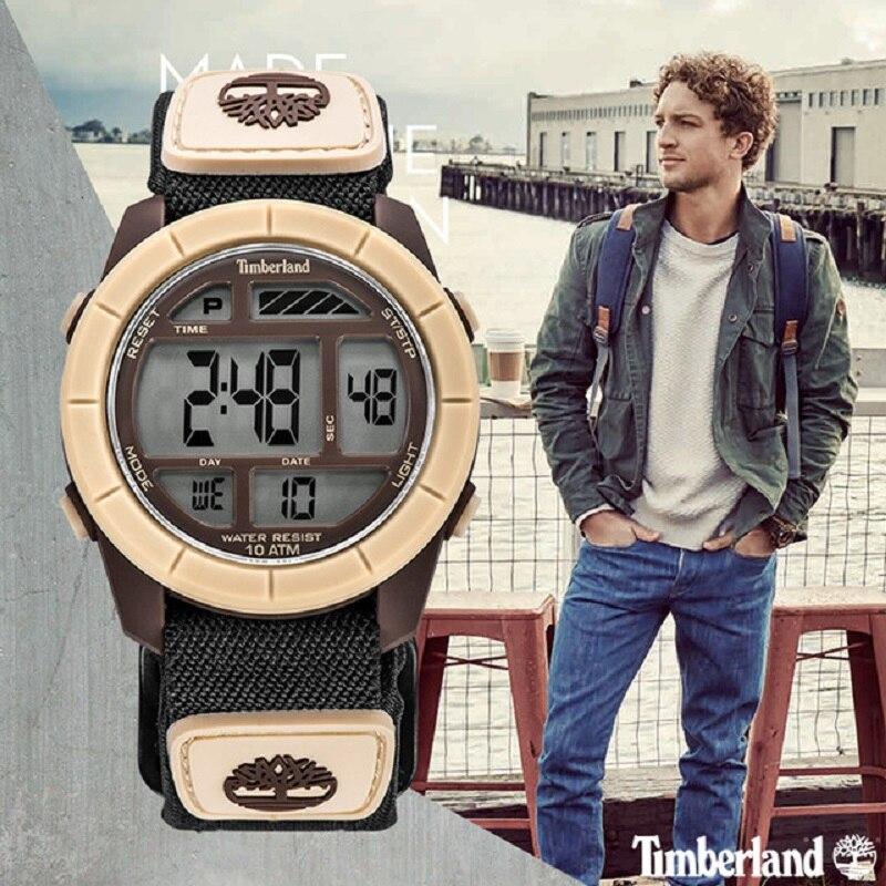 Timberland Original Mens Digital Watches Child Watchs Kids Canvas Sport Chronograph Calendar Date 100M Waterproof Mens Watches
