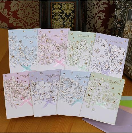 Aliexpress Buy 8SETLOT Luxury elegant laser happy – Handmade Luxury Birthday Cards