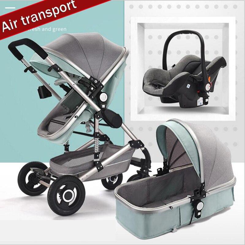 Multi-função carrinho de bebê pode sentar reclináveis alta paisagem luz ultra portátil dobrável simples 0 recém-3 ano de idade as crianças