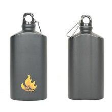 Venta caliente de la Aleación de Aluminio Hervidor Marcha 600 ml Botellas de Agua Para Acampar Al Aire Libre Ciclismo Accesorios Caldera de Fuego Arce FMP-313