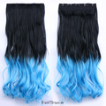 New arrival charm hair accessories 5 Clips 24 Inches curly ombre Color Clip In Hair jewelry Extension 10 colors available