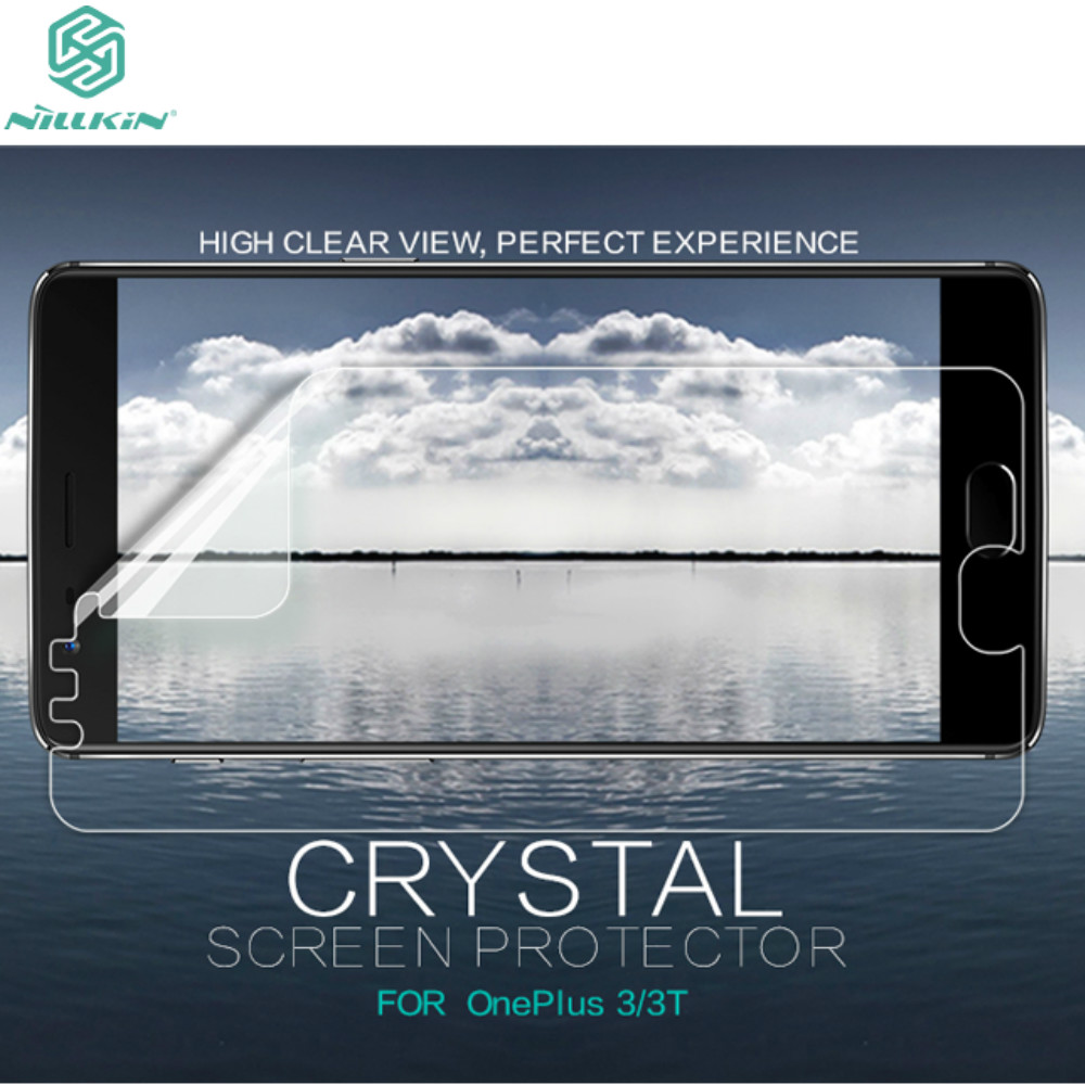 OnePlus 3 3T Screen Protector NILLKIN Super Clear Anti- Fingerprint HD Protective Film & Matte Scratch-resistant Screen Film